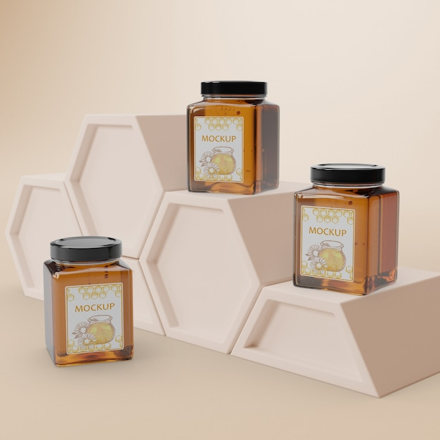 Delicious honey product on table Free Psd