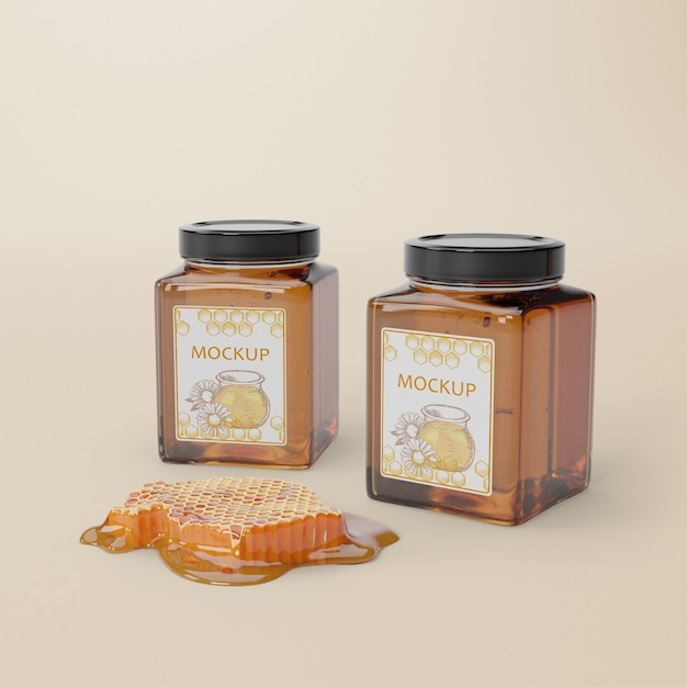 Delicious honey product Free Psd
