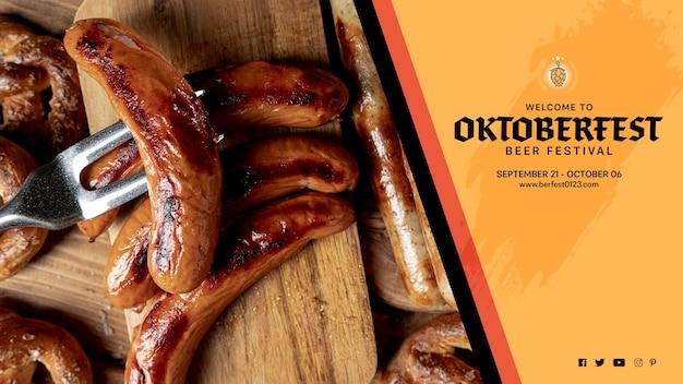 Вкусные октоберфест жареные колбаски Бесплатные Psd