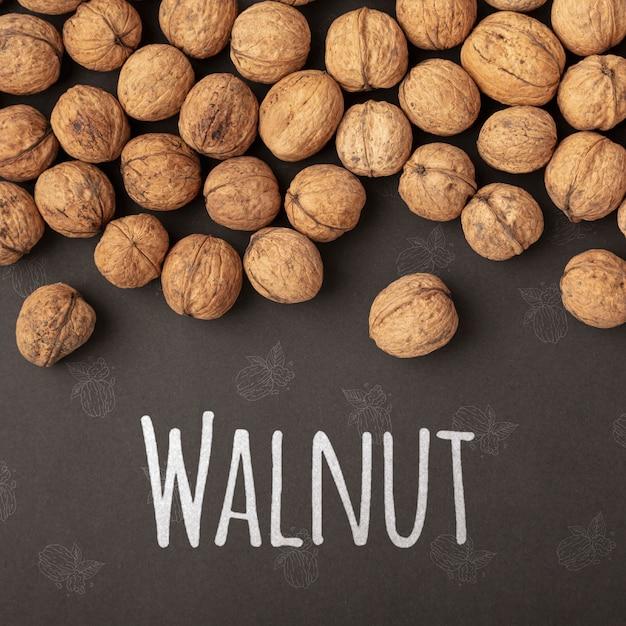 Delicious organic walnut mock-up Free Psd