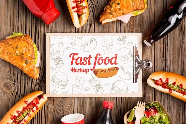 Макет концепции вкусной уличной еды Бесплатные Psd