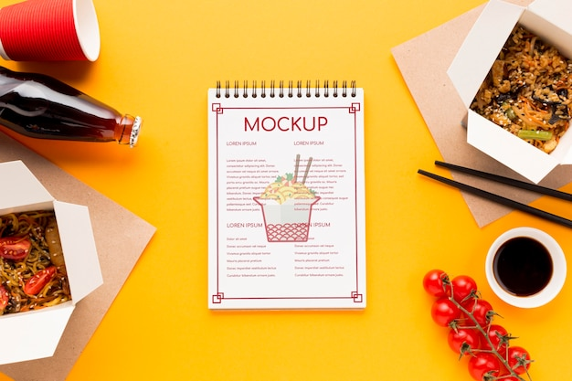 Delicious street food concept mock-up Free Psd