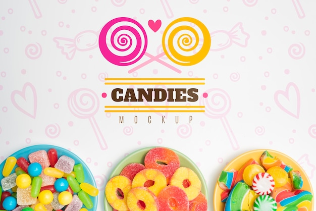 Delicious sweets concept mock-up Free Psd