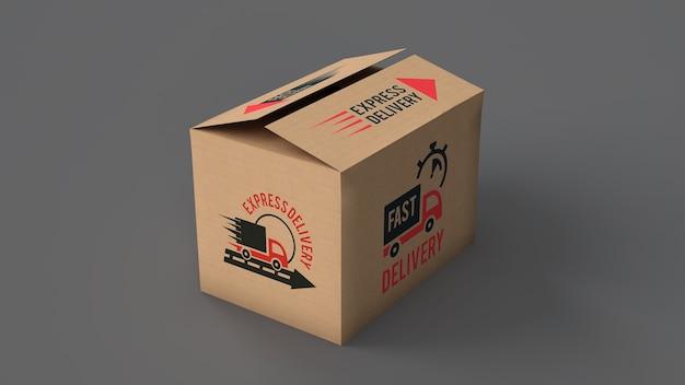 Mockup della scatola di consegna Psd Gratuite