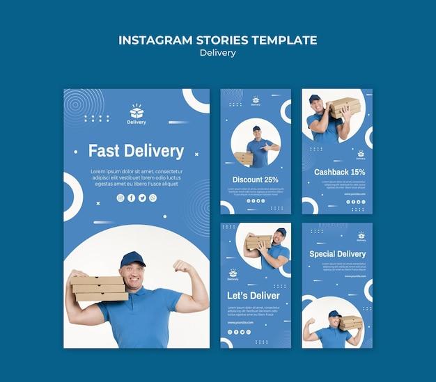 Modello di storie di instagram di consegna Psd Gratuite