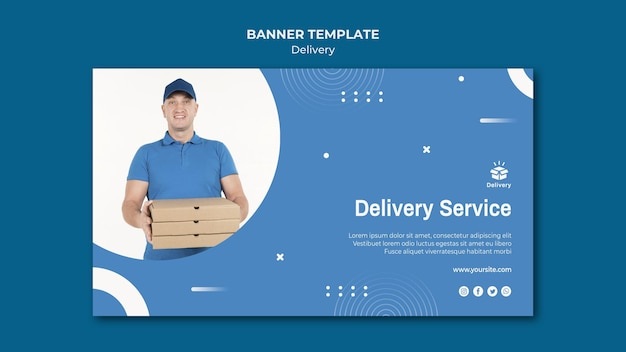 Delivery service banner template Free Psd