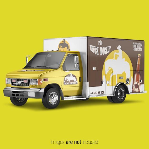Delivery truck mockup Premium Psd