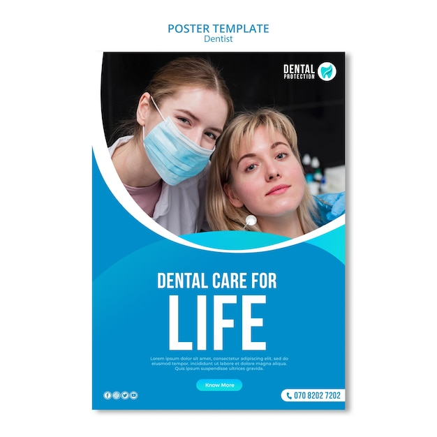Dental care for life poster template Free Psd
