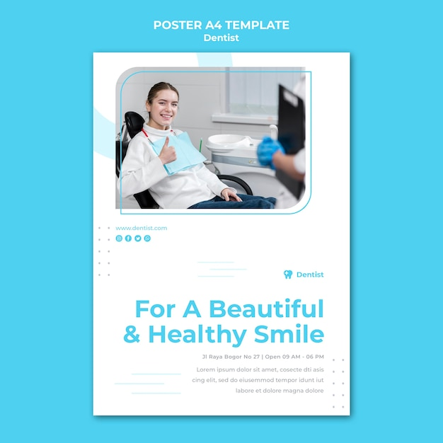 Dentist ad flyer template Free Psd