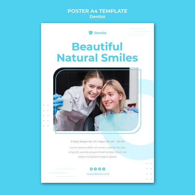 Dentist ad poster template Free Psd