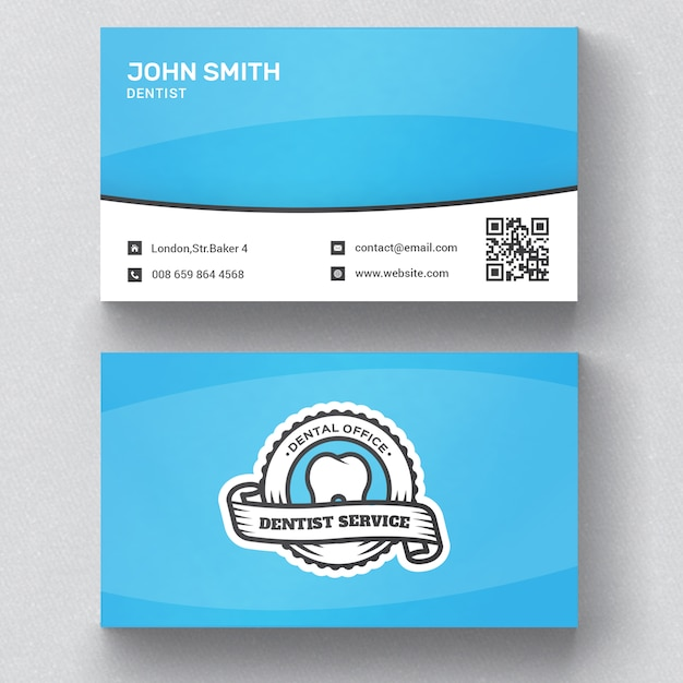 Dentist business card psd file free download dentist business card free psd reheart Choice Image