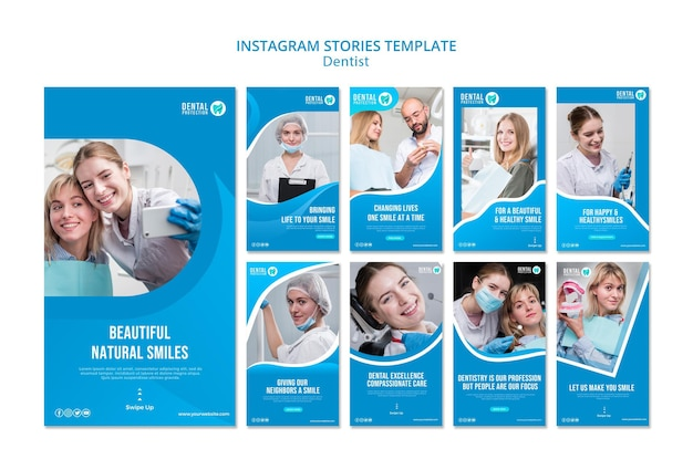 Dentist instagram stories template Free Psd