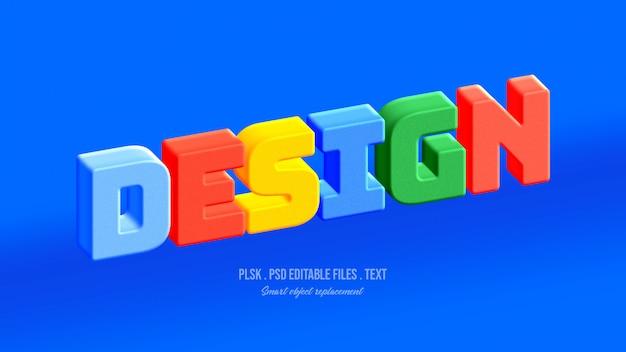 Design 3d text style effect Premium Psd
