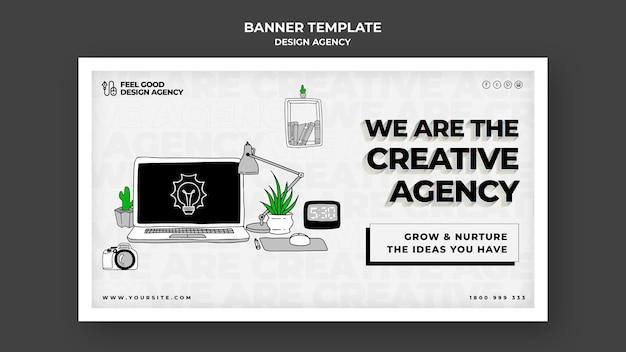 Design agency horizontal banner Free Psd