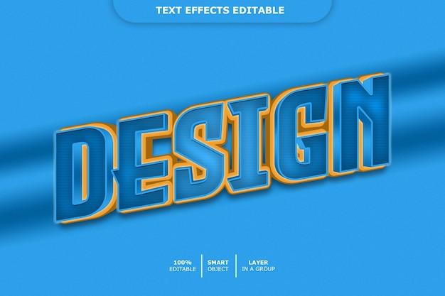 Дизайн - редактируемый эффект шрифта Premium Psd