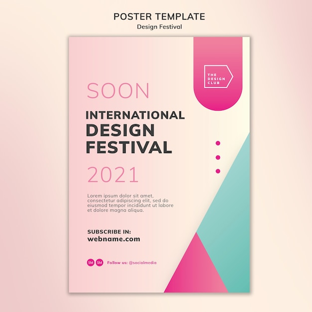 디자인 페스티벌 포스터 템플릿 무료 PSD 파일