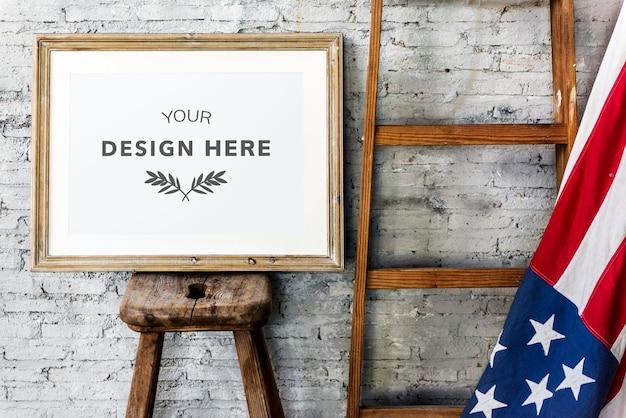 Design space photo frame Premium Psd