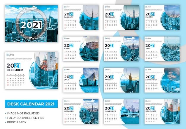 Desk calendar 2021 template Premium Psd