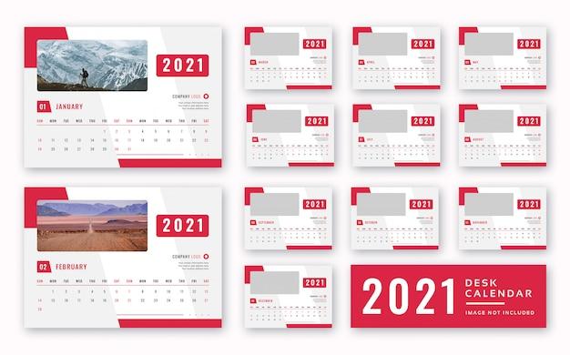 Desk calendar  2021 Premium Psd