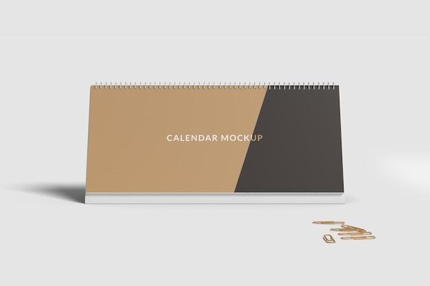 Desk calendar mockup front Premium Psd