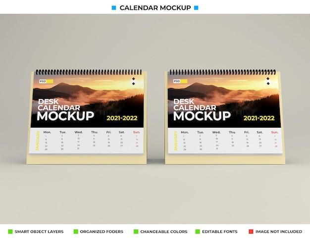 Макет настольного календаря изолирован Premium Psd