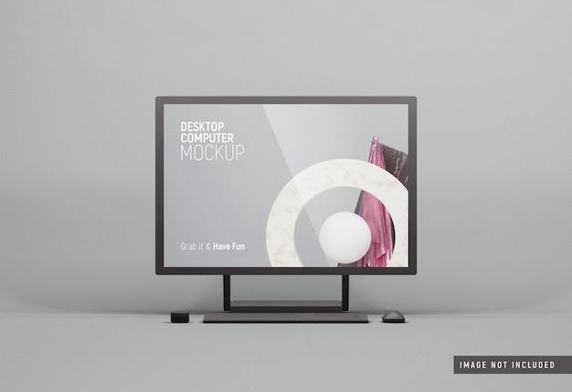 Настольный компьютер surface studio макет черной глины Premium Psd