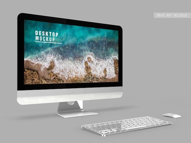 Modello di progettazione desktop mockup Psd Gratuite