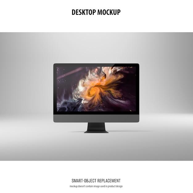 Desktop screen mockup Free Psd