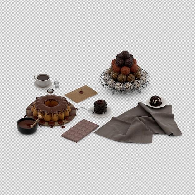 Dessert 3d isolated render Premium Psd