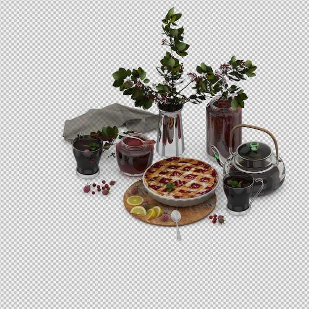 Dessert 3d isolated render Premium Psd