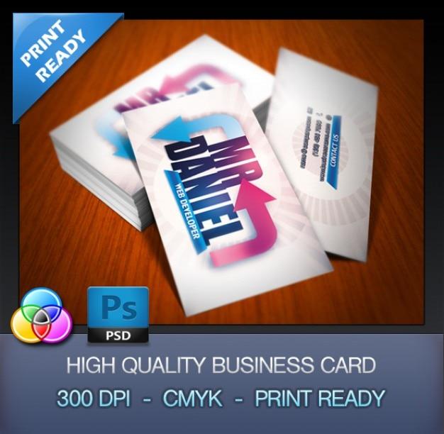 developer business card template psd file free download. Black Bedroom Furniture Sets. Home Design Ideas