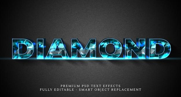 Diamond text style effect template Premium Psd