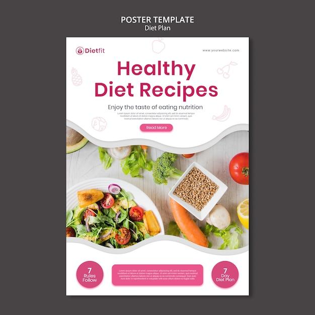 Diet plan flyer template Premium Psd