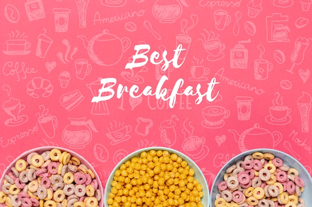 Different kind of cereals for breakfast Free Psd