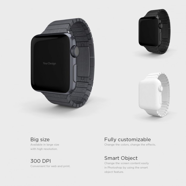Differents smartwatches presentation Free Psd