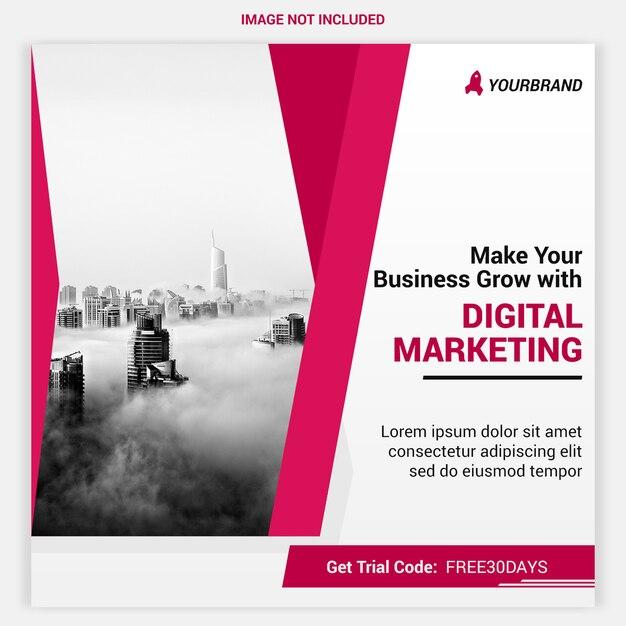 Digital agency banner Premium Psd