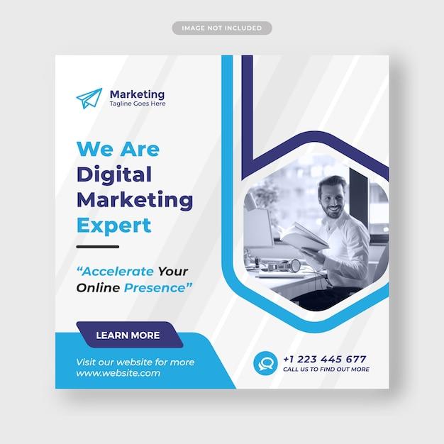 Digital agency template for social media post Premium Psd