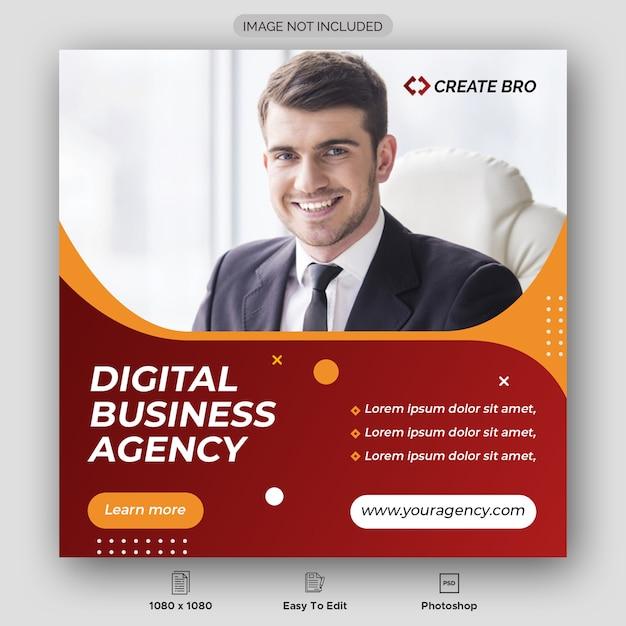 Digital business agency banner template Premium Psd