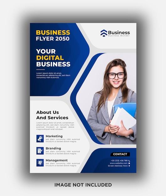 Digital business flyer design template Premium Psd
