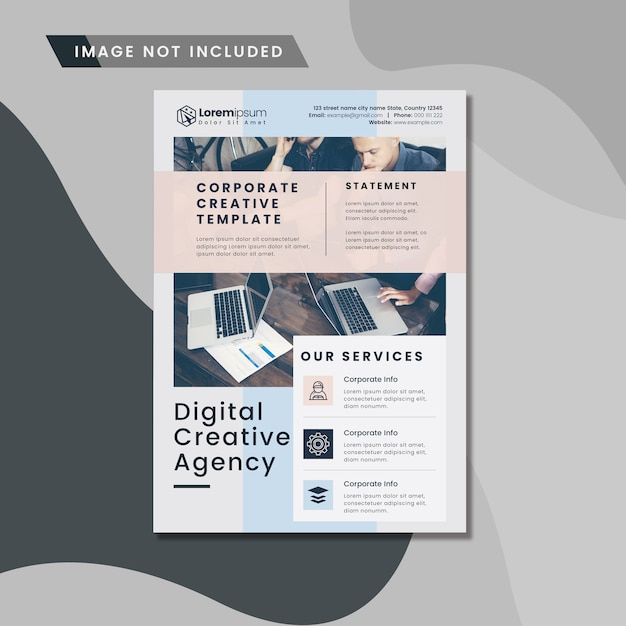 Digital business flyer Premium Psd