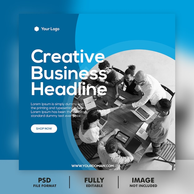 Digital business marketing banner square Premium Psd