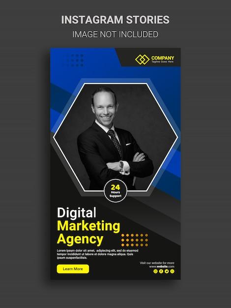 Digital business marketing instagram stories design Premium Psd