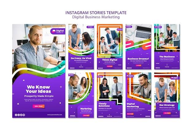 Истории цифрового маркетинга в instagram Бесплатные Psd