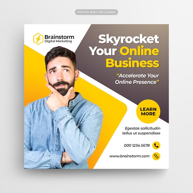 Digital business marketing social media banner Premium Psd