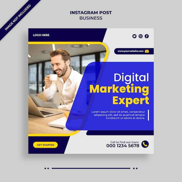 디지털 비즈니스 마케팅 소셜 미디어, 인스 타 그램, 웹 배너 또는 사각형 전단지 템플릿 프리미엄 PSD 파일