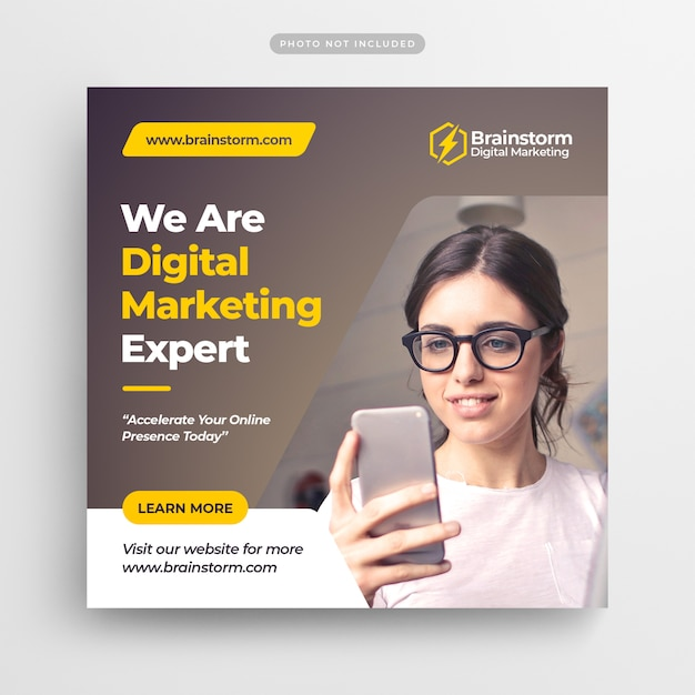 Digital business marketing social media post banner & square flyer Premium Psd