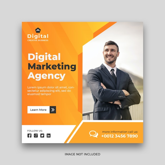 Digital business marketing social media post banner template Premium Psd