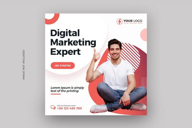 Digital business marketing social media post banner Premium Psd