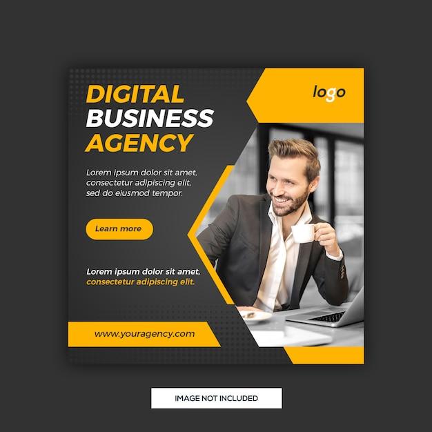 Digital business social media post template Premium Psd