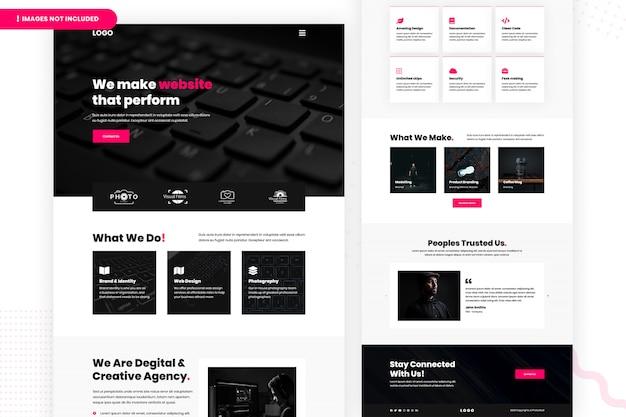 Digital & creative agency website page Premium Psd